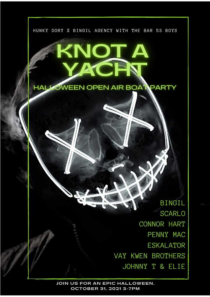Knot a Yacht (Halloween Open Air Day Boat Party) image
