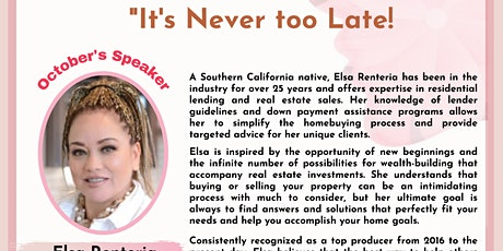 """""""It's Never too Late!"""" - Businesswomen's Free Virtual Event tickets"""