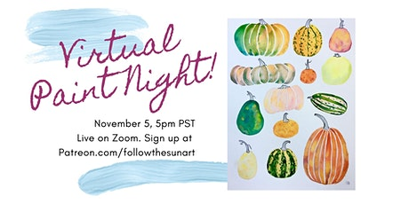 Virtual Paint Night: Watercolor Pumpkins! tickets