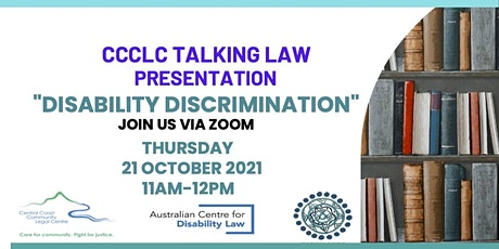 TALKING LAW - DISABILITY DISCRIMINATION tickets
