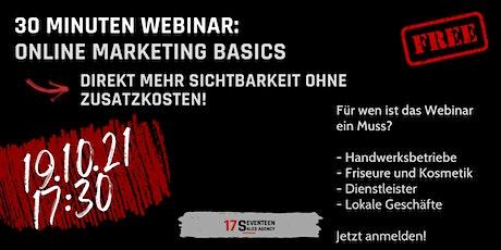 Online Marketing Basics für Kleinunternehmen Tickets