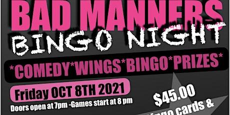 BAD MANNERS BINGO NIGHT HALLOWEEN EDITION tickets