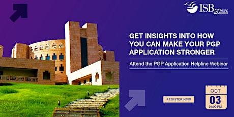 ISB PGP Application Helpline Webinar |India| 4 PM - 6 PM tickets