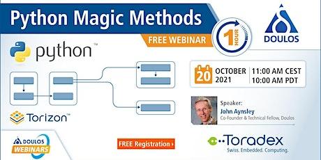 Webinar: Python Magic Methods tickets
