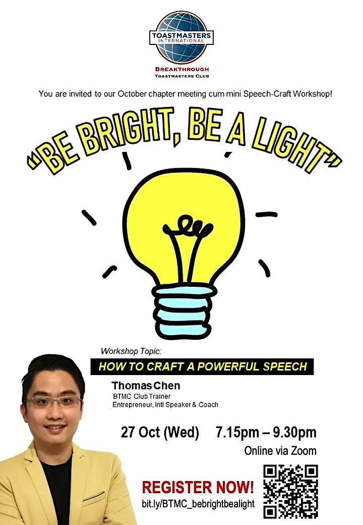 Be Bright, Be A Light! @ BTMC Chapter Meeting image