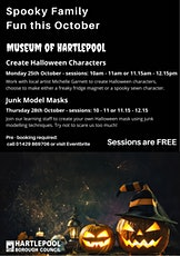 Museum of Hartlepool - Create Halloween Characters Session 2 - 11.15-12.15 tickets
