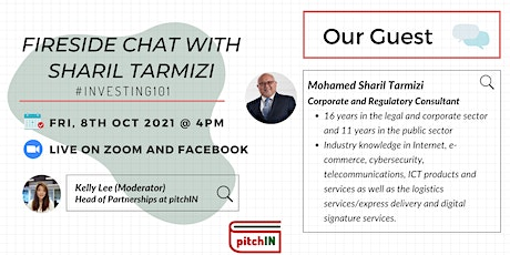 Fireside Chat with Sharil Tarmizi #Investing101 tickets