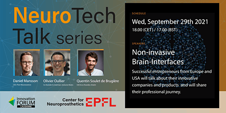 NeuroTech Talk series - Non-invasive Brain Interfaces tickets
