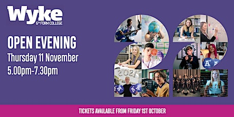 Wyke Sixth Form College Open Evening - Thursday 11th November tickets