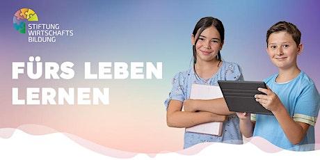 Info Talk  Schulpilotförderung Wirtschaftsbildung und Aktionstage-Scheck Tickets