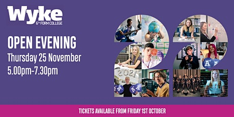 Wyke Sixth Form College Open Evening - Thursday 25th November tickets