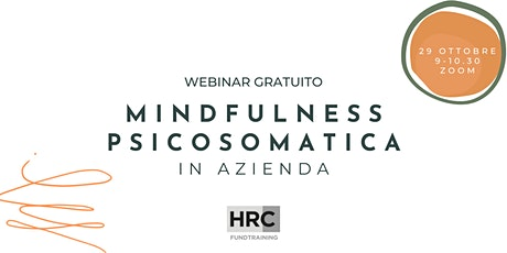 Mindfulness psicosomatica in azienda biglietti