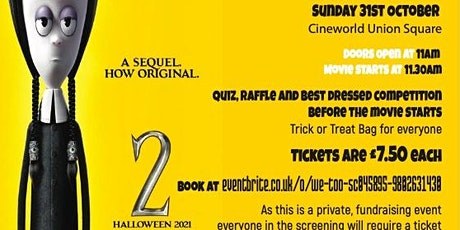 Addams Family 2 - Spooky Cinema Fundraiser for We Too! (All Ages) tickets