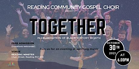 "Black History Month Concert - ""Together"" tickets"