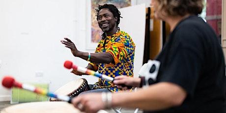 West African drumming presentation and online talk tickets