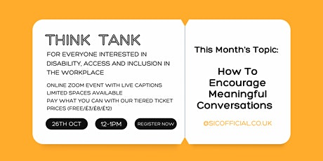 Disability Think Tank tickets