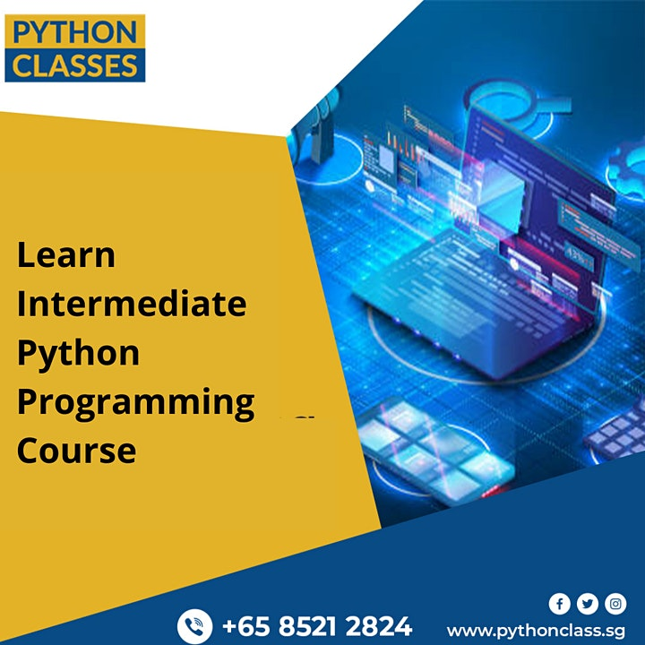 Intermediate Python Programming Course Singapore - Python Classes image