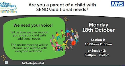 SEND/Additional Needs Feedback Group tickets