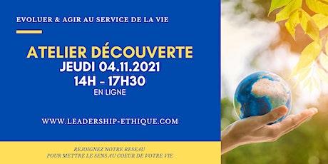 Atelier Découverte du Leadership Ethique - jeudi 4 novembre 2021 billets