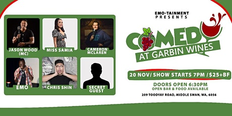 Comedy at Garbin Wines tickets