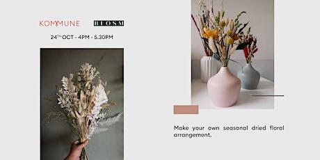 Seasonal Dried Floral Arrangement Workshop tickets