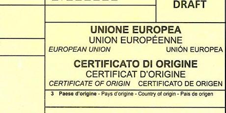 DOCUMENTAZIONE PER L'ESTERO: L'ORIGINE NON PREFERENZIALE DELLE MERCI ED IL biglietti