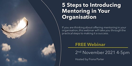 5 Steps to Introducing Mentoring in Organisations tickets