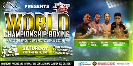 """""""Big-Time Professional Boxing in the DMV"""" tickets"""