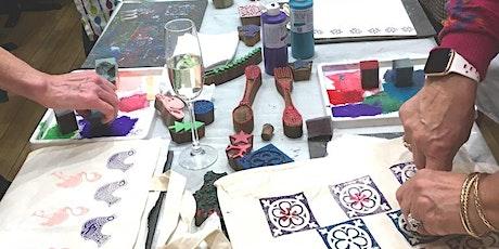 Indian Block Printing - create Tea Towel and Tote Bag tickets