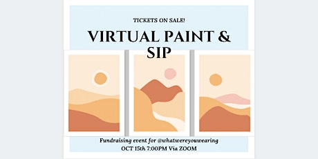 Virtual Paint & Sip Fundraising event tickets