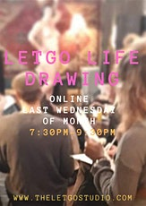 Letgo Life Drawing ONLINE, UK - Last Wednesday of the month tickets