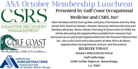 ASA Membership Luncheon tickets