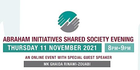Abraham Initiatives Shared Society Evening 2021 tickets