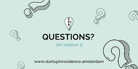 Startup in Residence Webinar #3 tickets