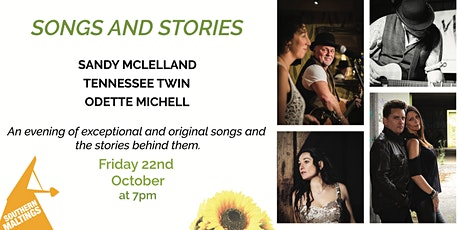 Songs and Stories with Sandy McLelland, Tennessee Twin and  Odette Michell tickets