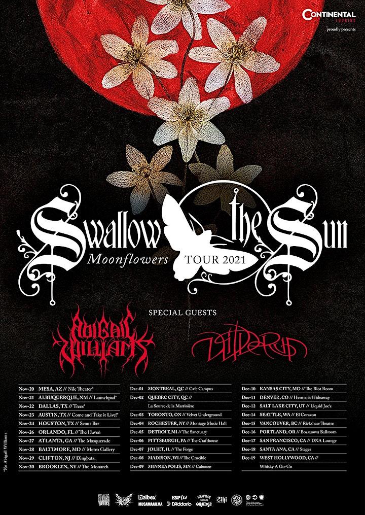 SWALLOW THE SUN | Abigail Williams |  Wilderun | PORTLAND image
