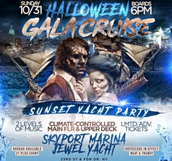 HALLOWEEN WEEKEND  JEWEL YACHT PARTY NYC - SUNSET CRUISE! Sun., Oct 31st tickets