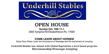 Underhill Stables Open House tickets