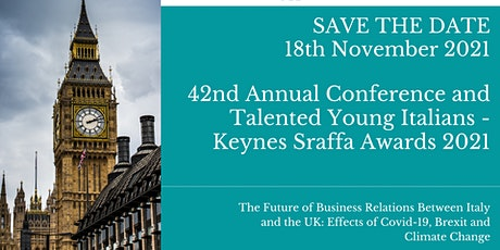 42nd Annual Conference & Talented Young Italians - Keynes Sraffa Awards 21 tickets