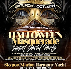 HALLOWEEN HARMONY YACHT PARTY NYC - SUNSET CRUISE! Sat., Oct 30th tickets