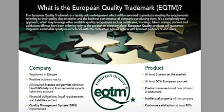 WEBINAR about European Quality Trademark, EQTM tickets