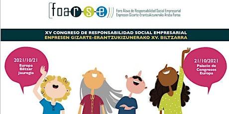 XV CONGRESO FORO ÁLAVA DE RESPONSABILIDAD SOCIAL EMPRESARIAL entradas