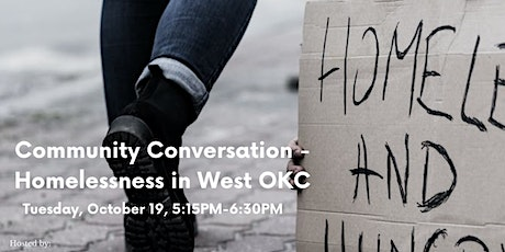 Community Conversation on Homelessness in West OKC tickets