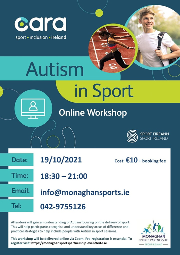 Autism In Sport Workshop - Tuesday the 19th of October image