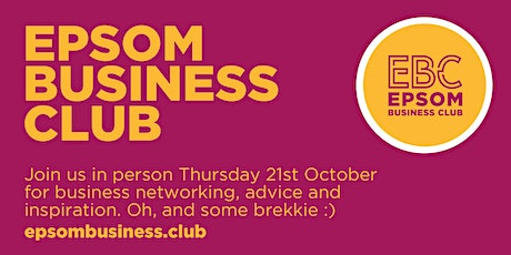 Face-to-face breakfast networking tickets