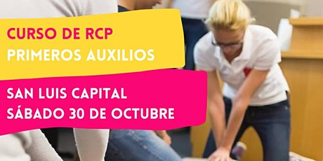 SAN LUIS - 30/10 CURSO RCP Y PRIMEROS AUXILIOS entradas