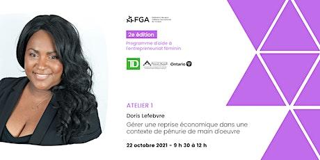 Programme d'appui à l'entrepreneuriat féminin - Atelier de Doris Lefebvre billets