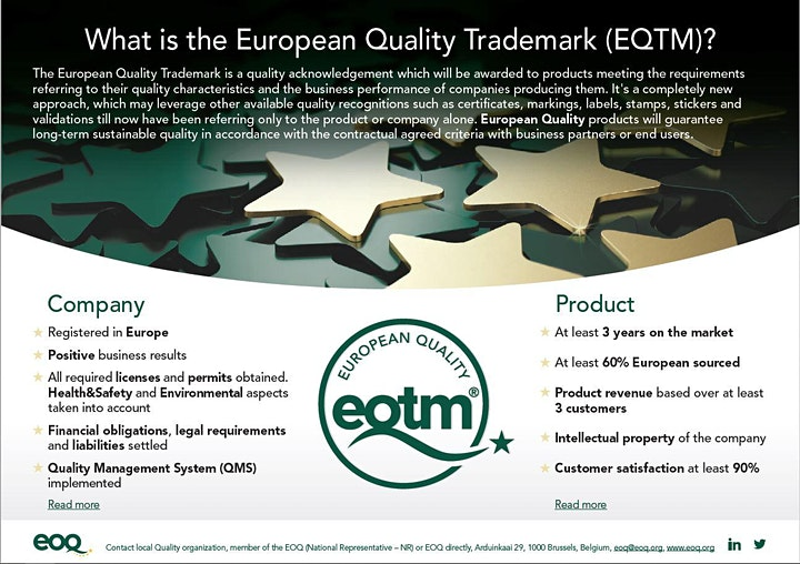 WEBINAR about European Quality Trademark, EQTM image