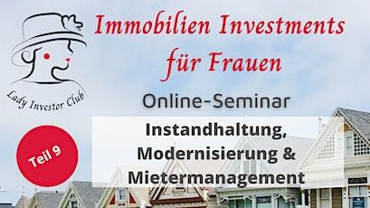 """Seminarreihe """"Immobilien Investments für Frauen"""": Objektentwicklung Tickets"""