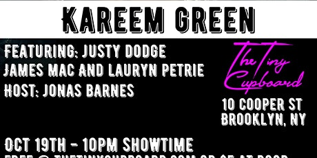 The Headliner Series NYC: Kareem Green tickets